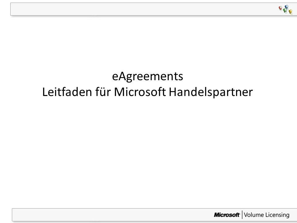 1 eAgreements Leitfaden für Microsoft Handelspartner