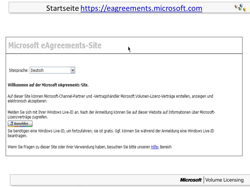 10 Startseite https://eagreements.microsoft.comhttps://eagreements.microsoft.com