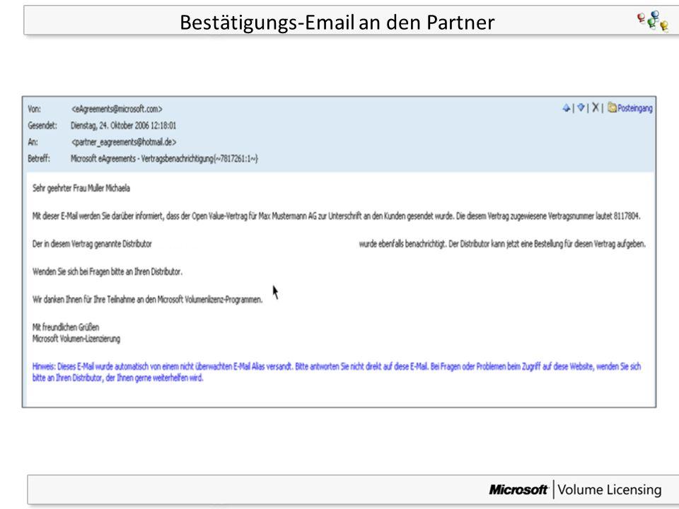 28 Bestätigungs-Email an den Partner