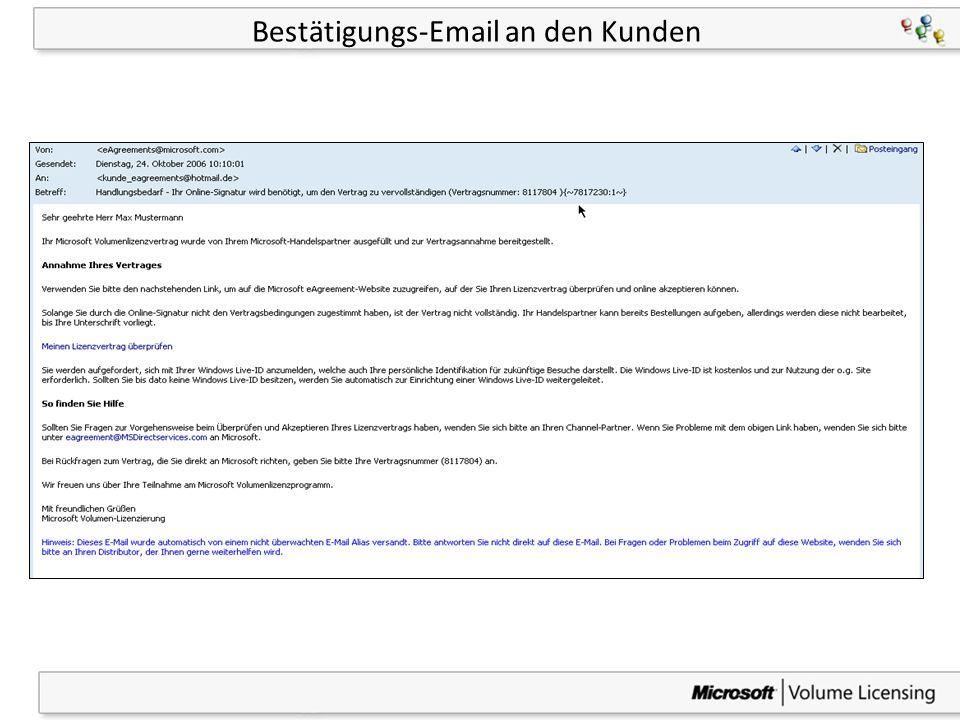 29 Bestätigungs-Email an den Kunden