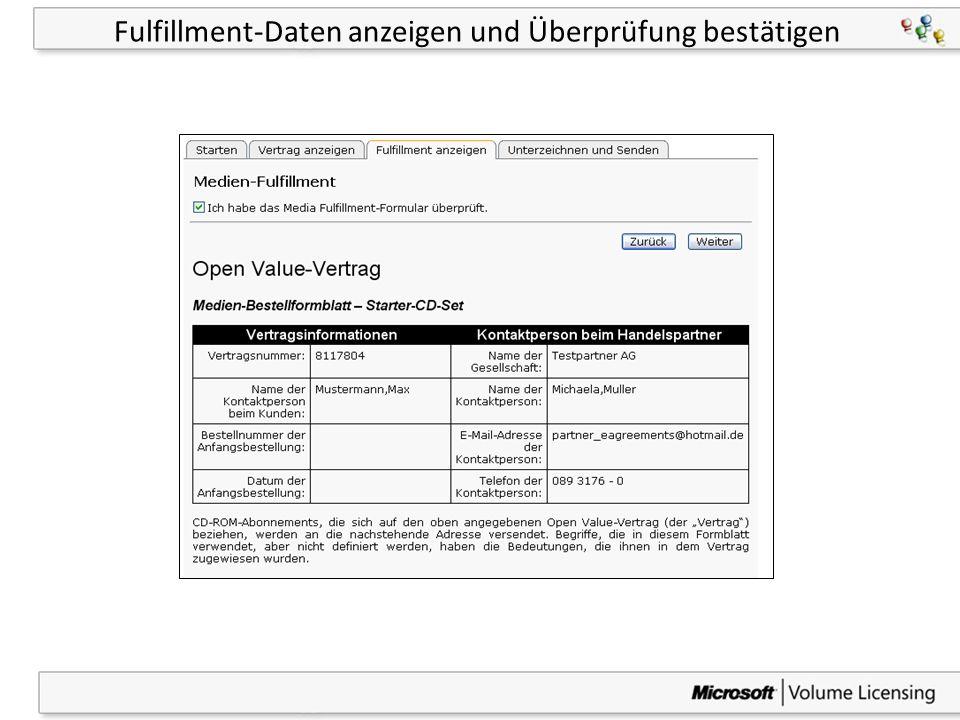 32 Fulfillment-Daten anzeigen und Überprüfung bestätigen