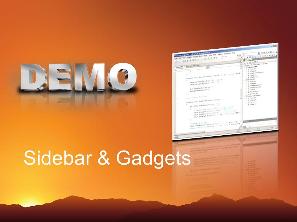 Sidebar & Gadgets
