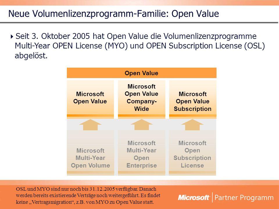 Open Value im Überblick Miete Standardisierung ab 5 PCs inkl.