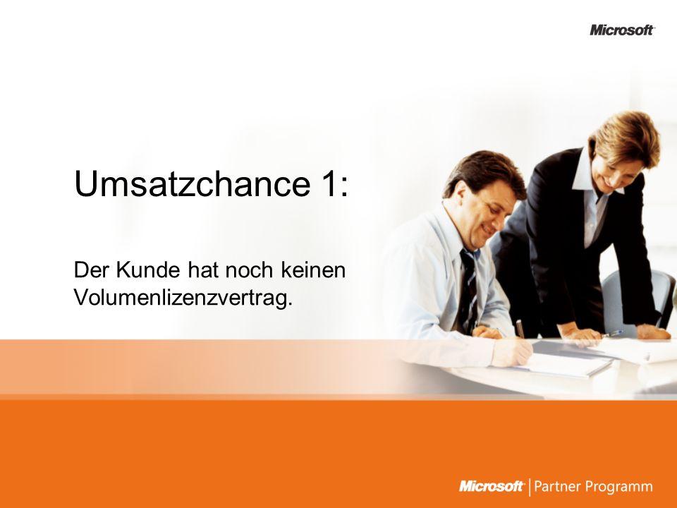 Der Kunde hat Lizenzen mit Software Assurance unter Open License erworben.