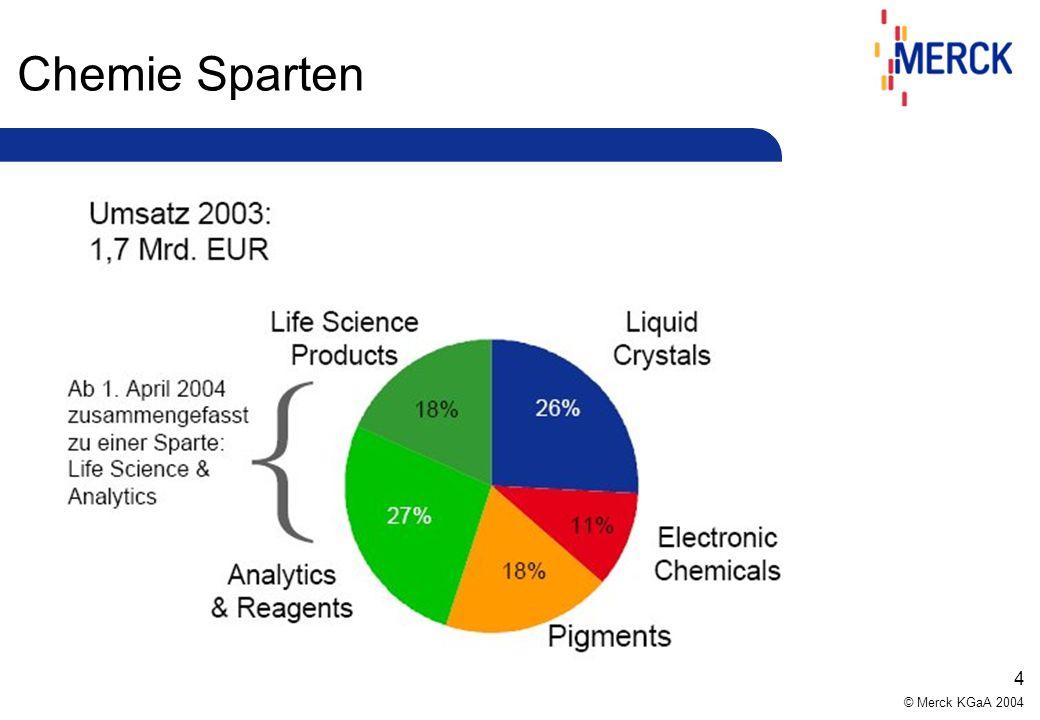 © Merck KGaA 2004 4 Chemie Sparten