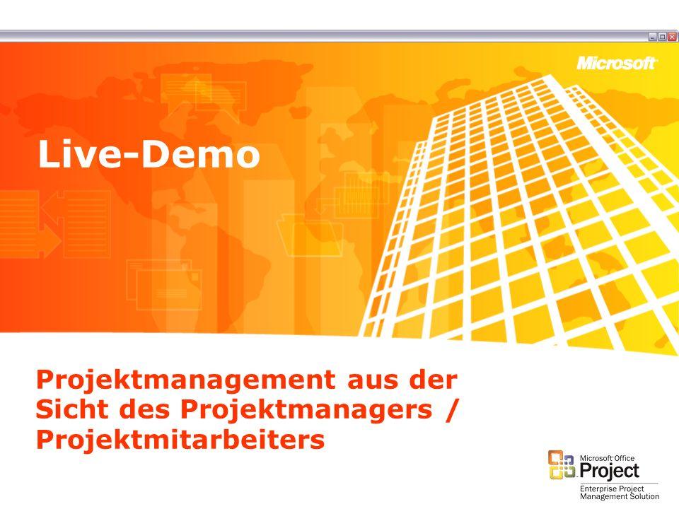 Projektmanagement aus der Sicht des Projektmanagers / Projektmitarbeiters Live-Demo