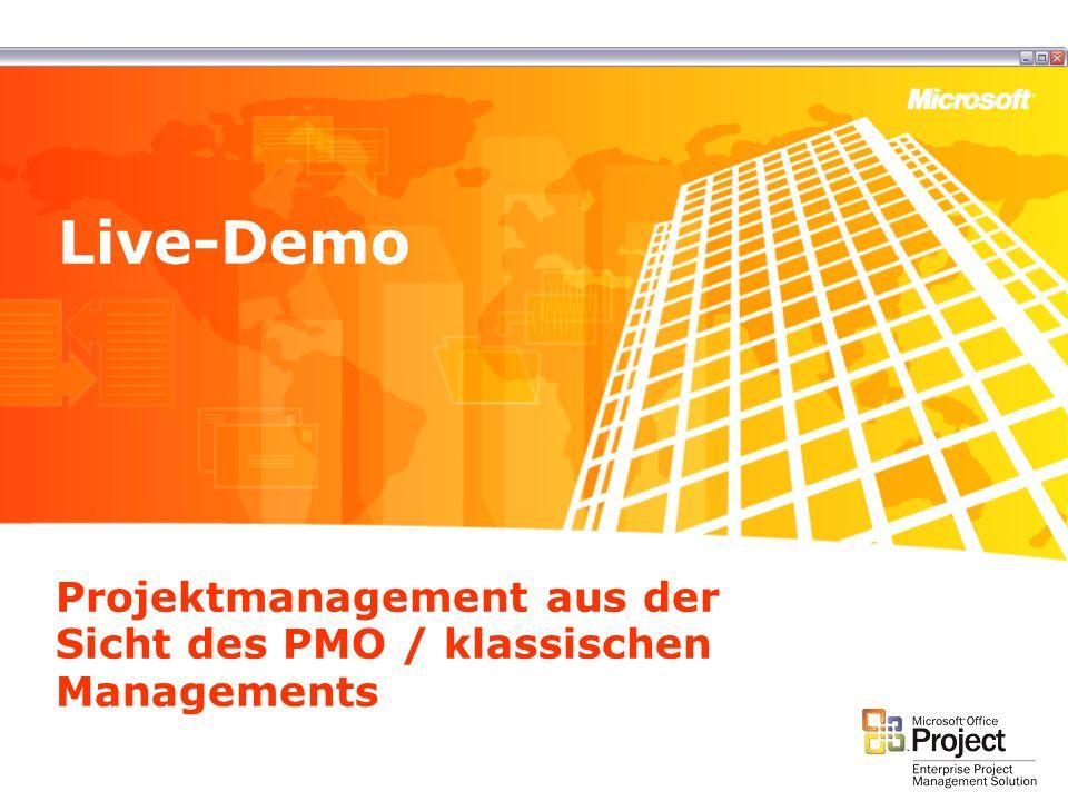 Projektmanagement aus der Sicht des PMO / klassischen Managements Live-Demo