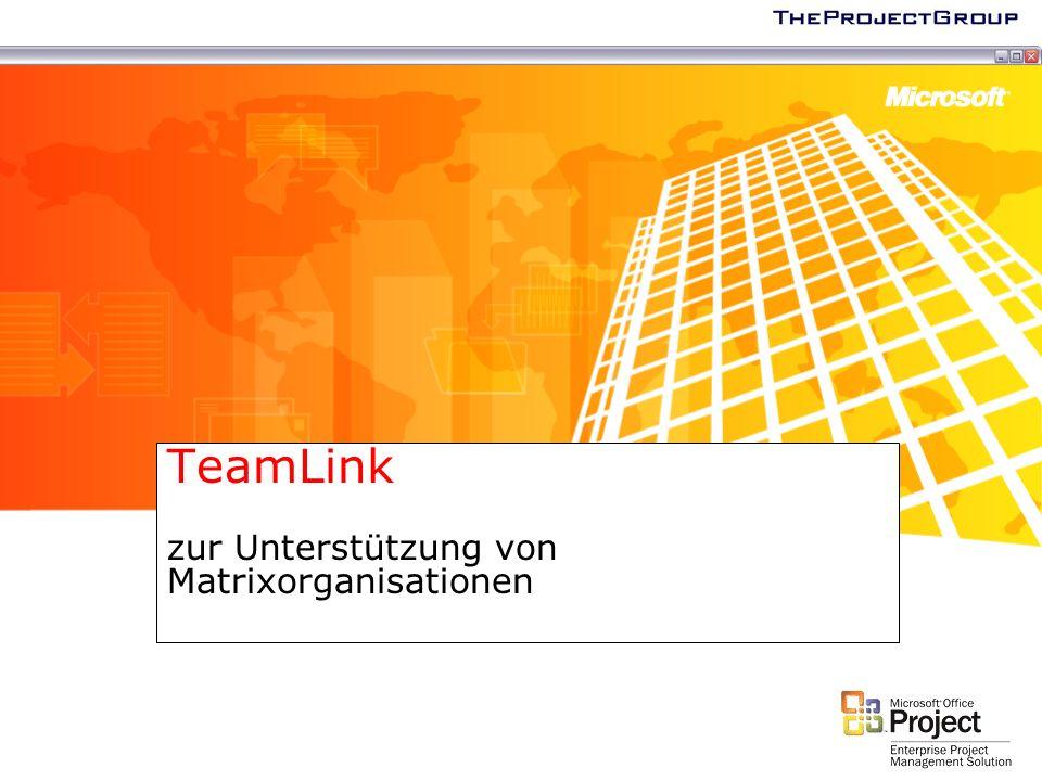 TeamLink zur Unterstützung von Matrixorganisationen