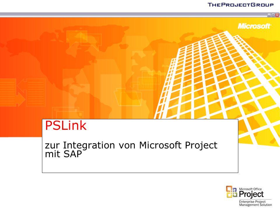 Möglichkeiten der SAP Integration Führendes System: SAP oder Microsoft Project.