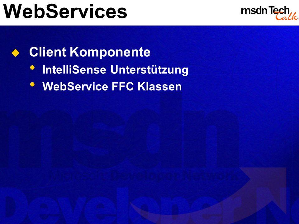 WebServices Client Komponente IntelliSense Unterstützung WebService FFC Klassen
