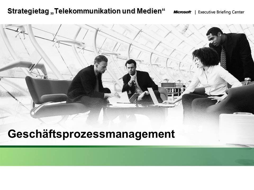 Strategietag Telekommunikation und Medien Geschäftsprozessmanagement