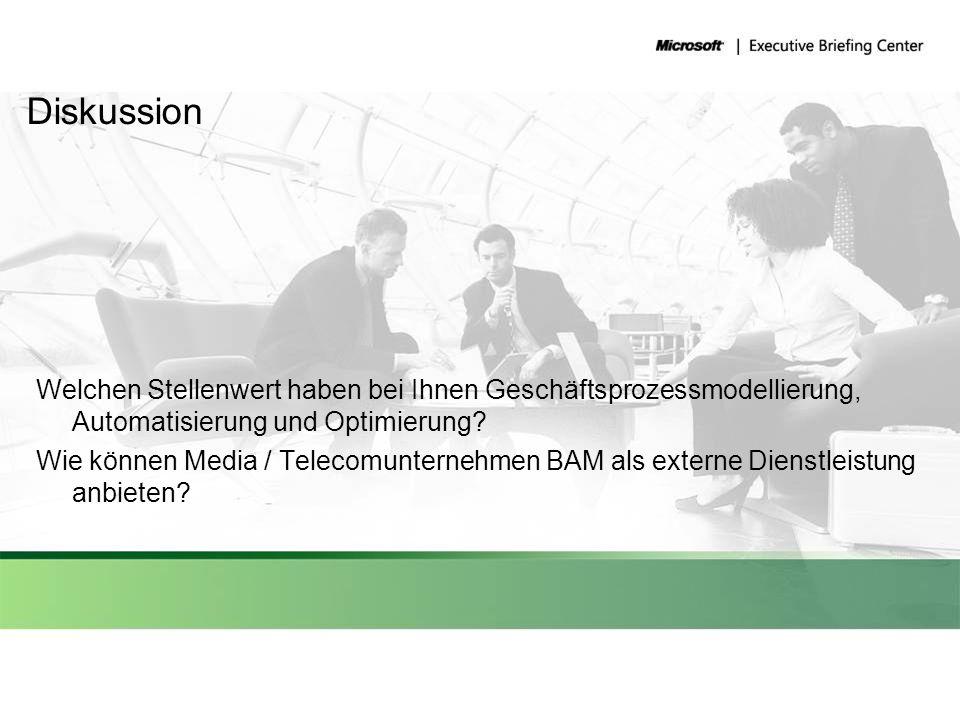 Diskussion Welchen Stellenwert haben bei Ihnen Geschäftsprozessmodellierung, Automatisierung und Optimierung? Wie können Media / Telecomunternehmen BA