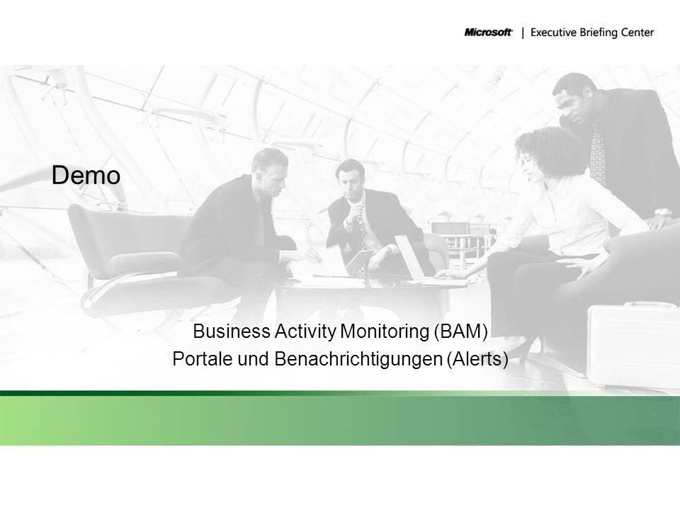 Demo Business Activity Monitoring (BAM) Portale und Benachrichtigungen (Alerts)