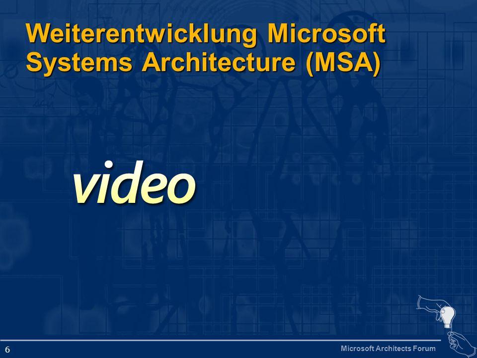 Microsoft Architects Forum 17 Common Engineering Criteria Von der Produkt- zur Systementwicklung http://www.microsoft.com/wss