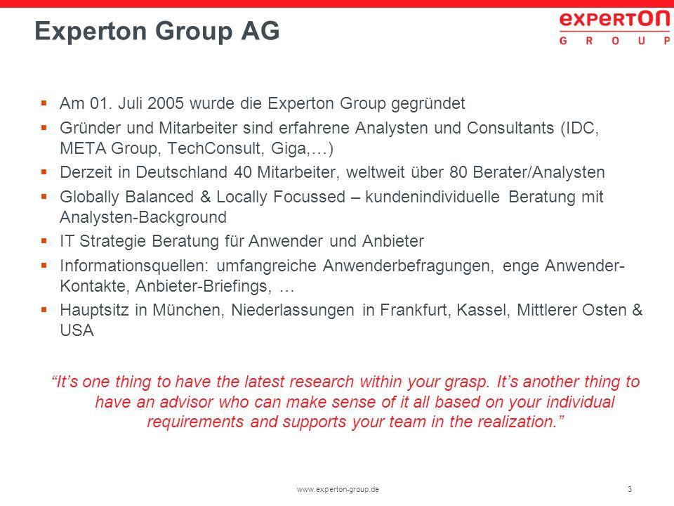 24www.experton-group.de Setzen Sie derzeit Virtualisierungslösungen ein, um die Anzahl physikalischer Server zu reduzieren.