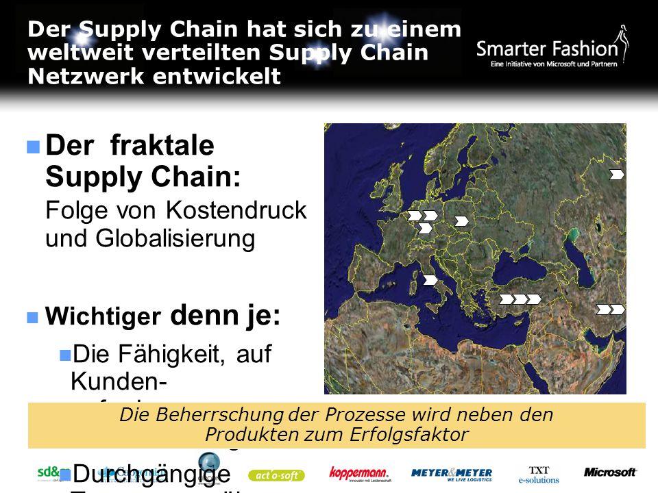 Der Supply Chain hat sich zu einem weltweit verteilten Supply Chain Netzwerk entwickelt Der fraktale Supply Chain: Folge von Kostendruck und Globalisi