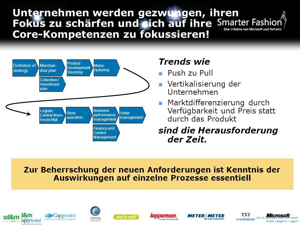 Unternehmen werden gezwungen, ihren Fokus zu schärfen und sich auf ihre Core-Kompetenzen zu fokussieren! Do Not Distribute Without Permission © 2006 C