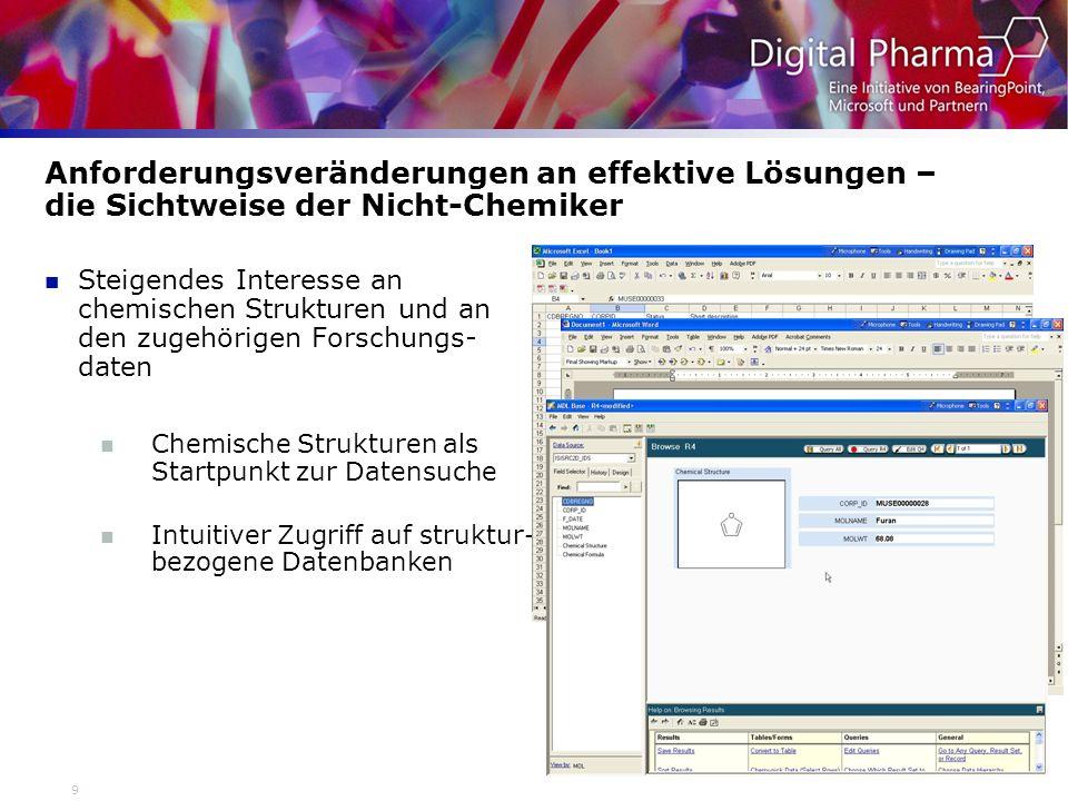 20 MDL Logistics: Herausforderung Elsevier MDL Die verwendeten Daten sind meist strukturbasierend.