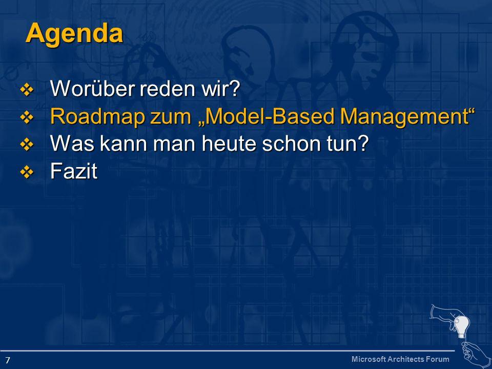 Microsoft Architects Forum 18 Was ist WMI.