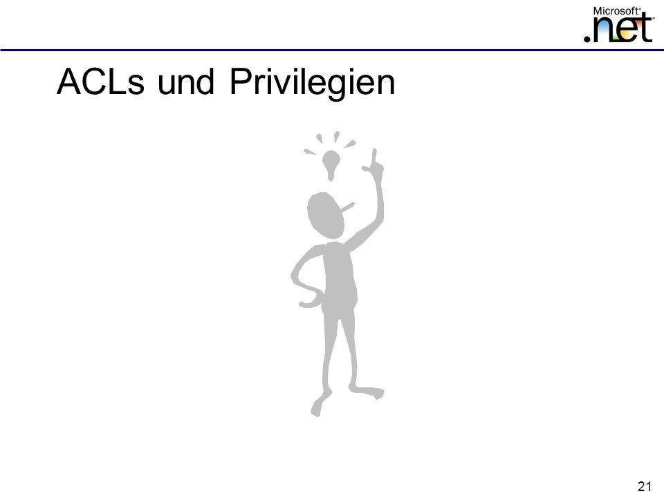 21 ACLs und Privilegien