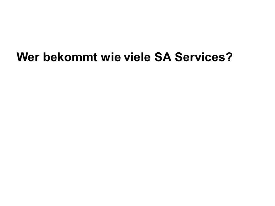 Wer bekommt wie viele SA Services?