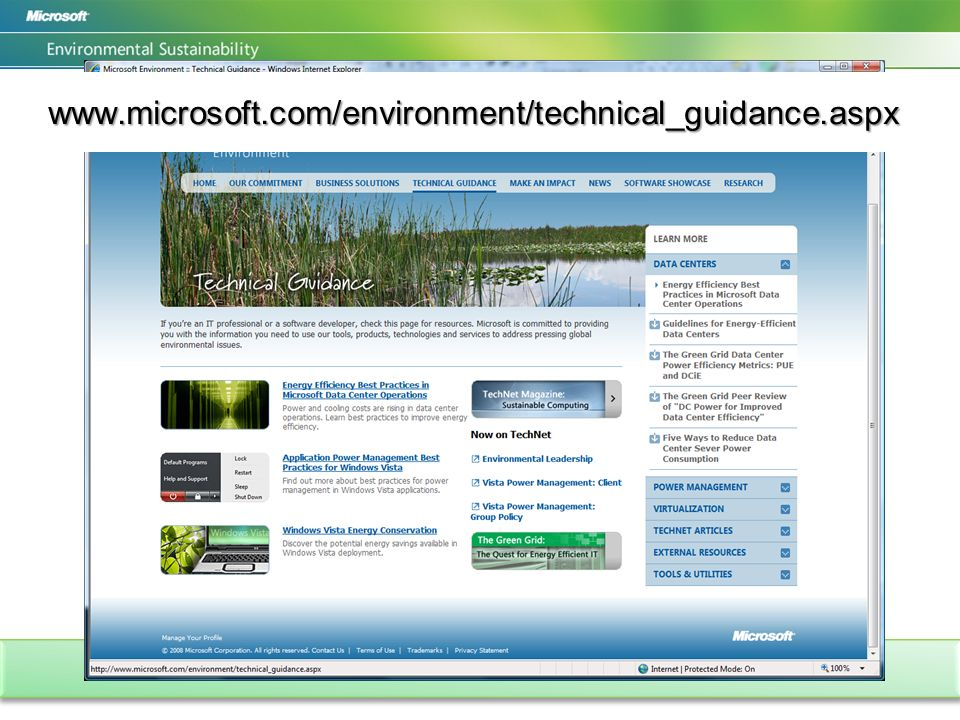 www.microsoft.com/environment/technical_guidance.aspx