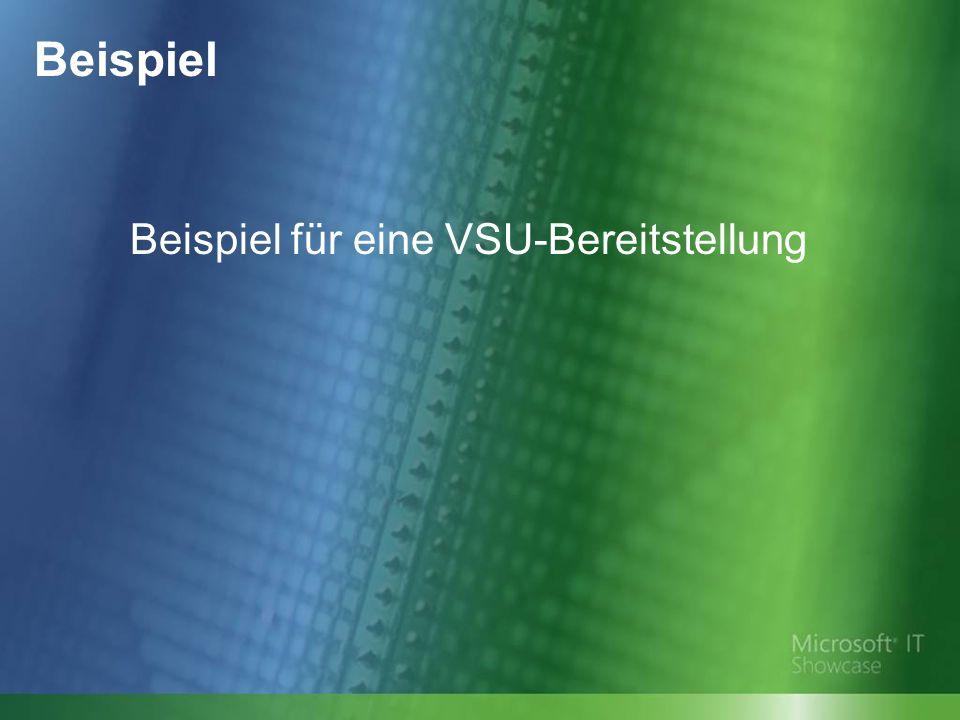 Beispiel Beispiel für eine VSU-Bereitstellung