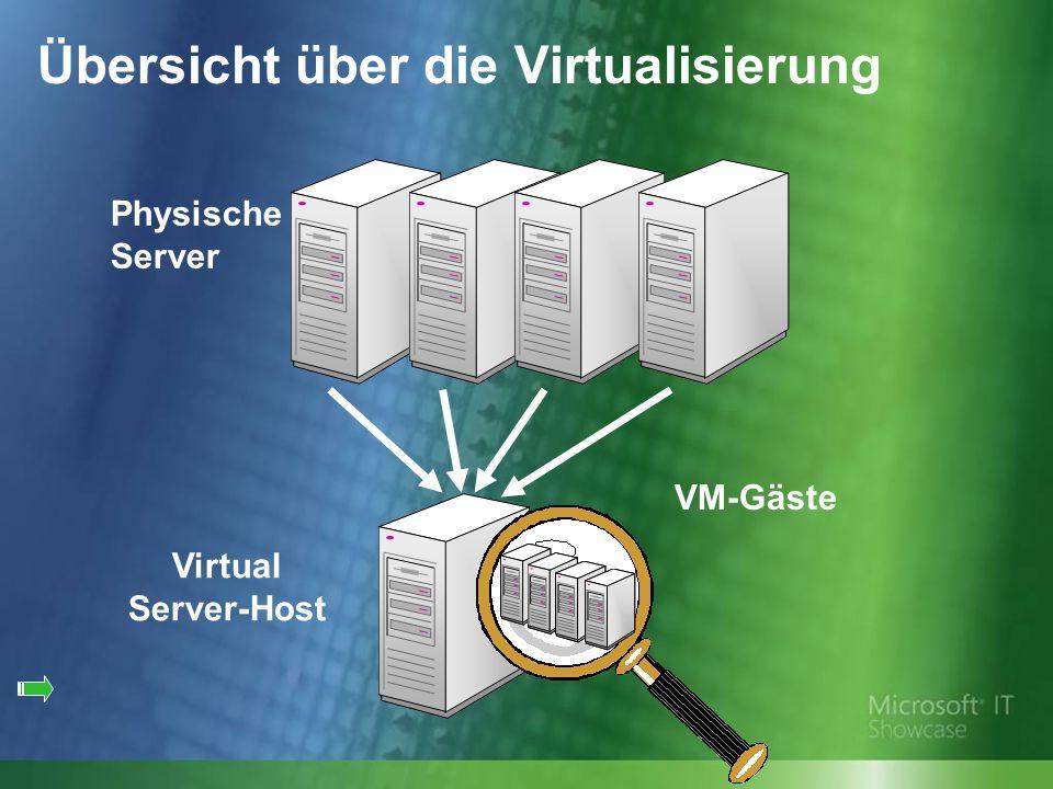 Virtual Server-Host VM-Gäste Physische Server Übersicht über die Virtualisierung