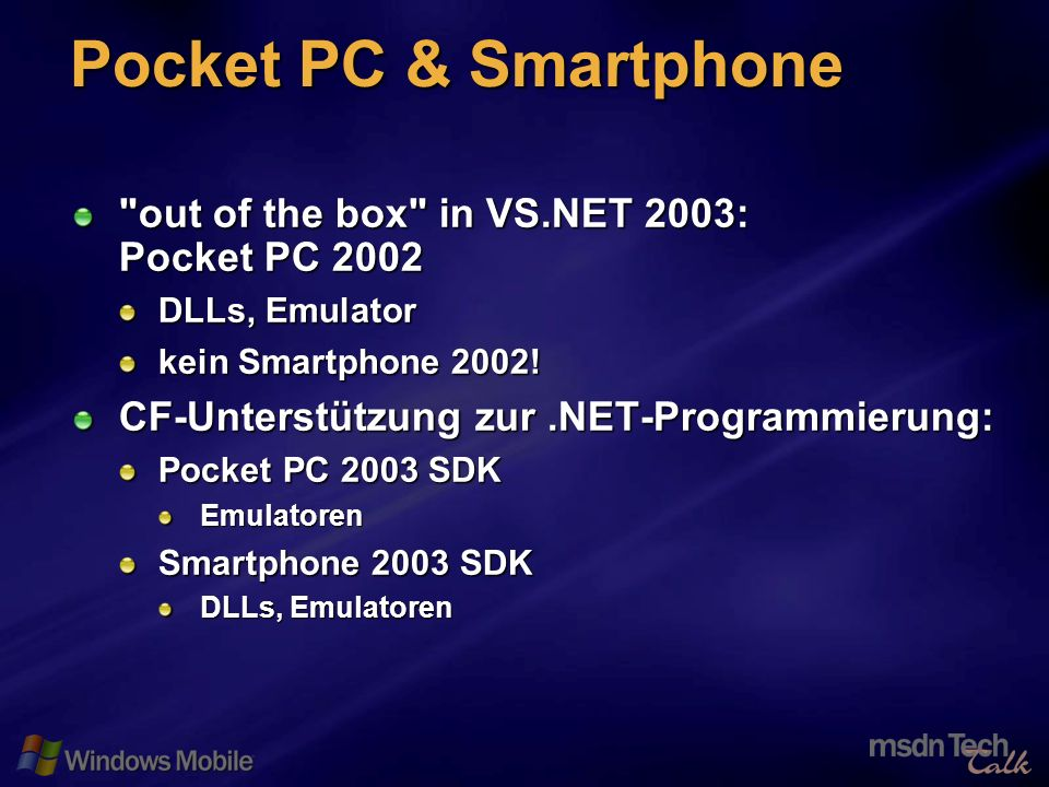 12 Pocket PC & Smartphone