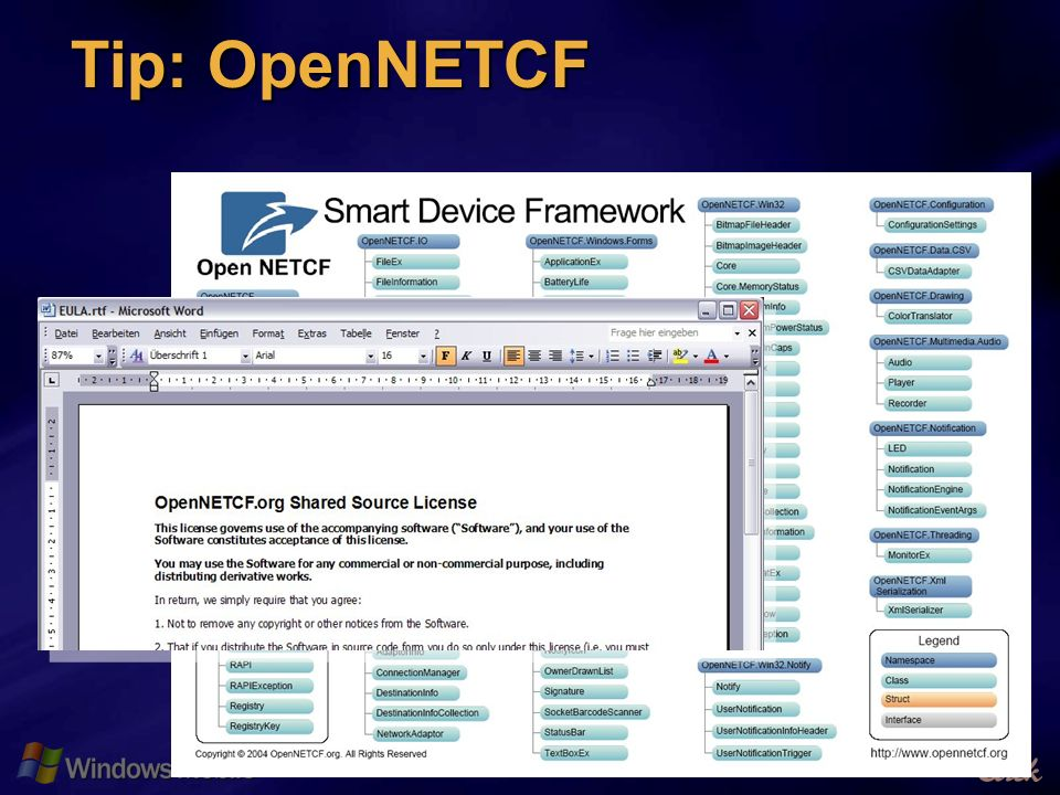 18 Tip: OpenNETCF