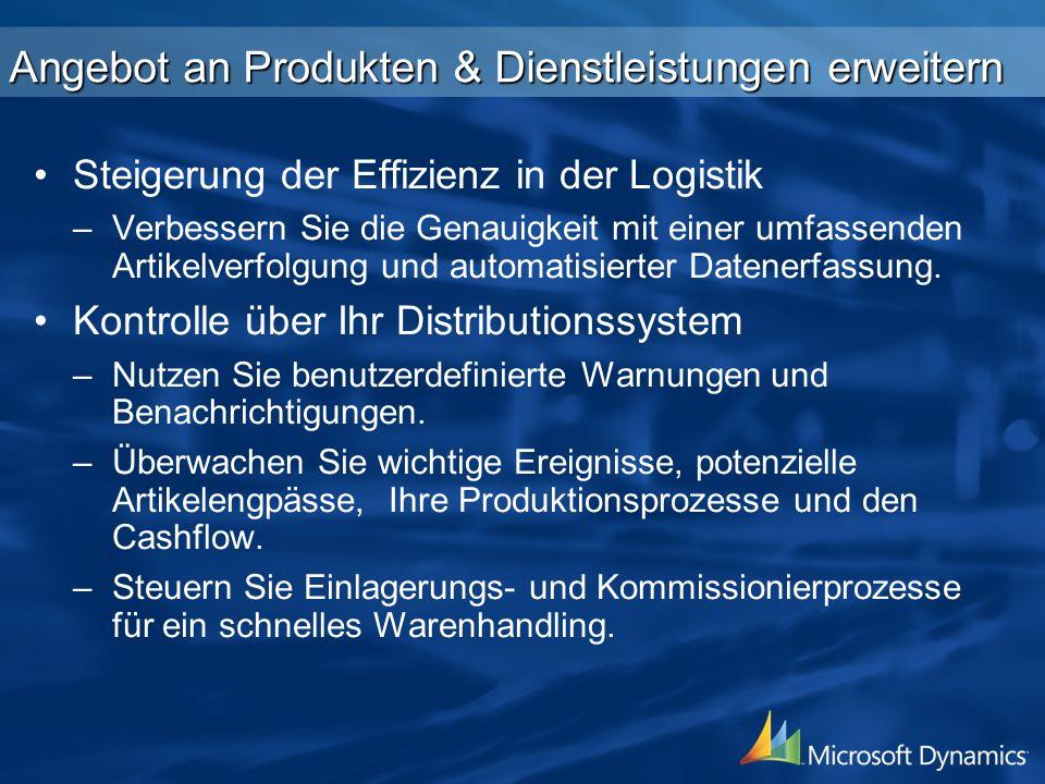 Angebot an Produkten & Dienstleistungen erweitern Steigerung der Effizienz in der Logistik – –Verbessern Sie die Genauigkeit mit einer umfassenden Artikelverfolgung und automatisierter Datenerfassung.