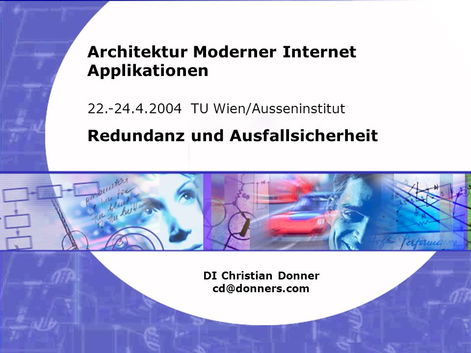 9 06.02.2003 21:33 Architektur Moderner Internet Applikationen – Sonderthema 4 Copyright ©2003 Christian Donner.