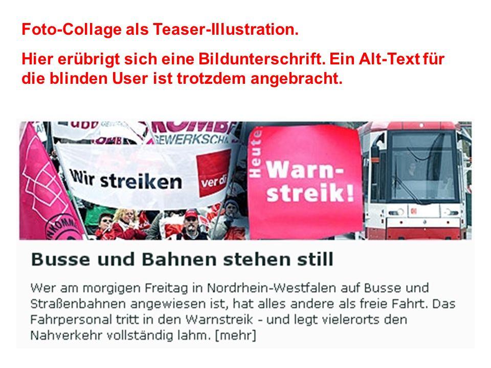 Aktion + Information = Gelungene Teaser-Illustration