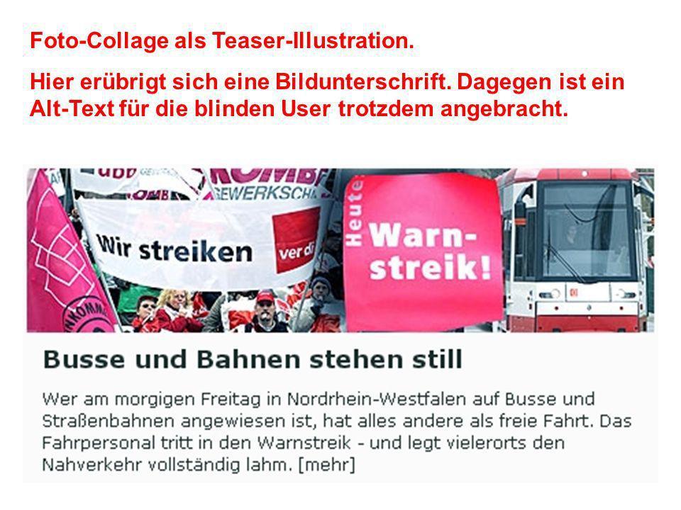 Foto-Collage als Teaser-Illustration. Hier erübrigt sich eine Bildunterschrift.