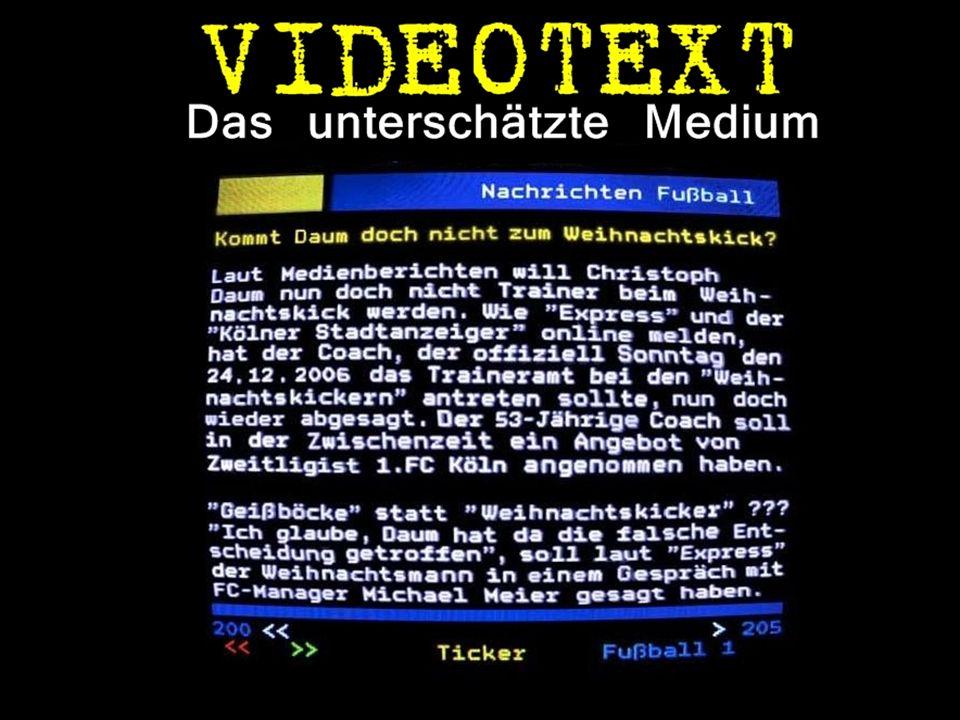Weniger kucken - Mehr klicken Während in Deutschland die Zahl der Fernsehzuschauer sinkt, bleiben die Klickzahlen beim Videotext weitgehend stabil.
