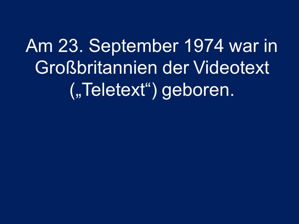 In Deutschland ist der Videotext seit dem 1.Juni 1980 verfügbar Zunächst nur als Testbetrieb Nach einer zehnjährigen Versuchsphase wurde 1990 der reguläre Videotext gestartet