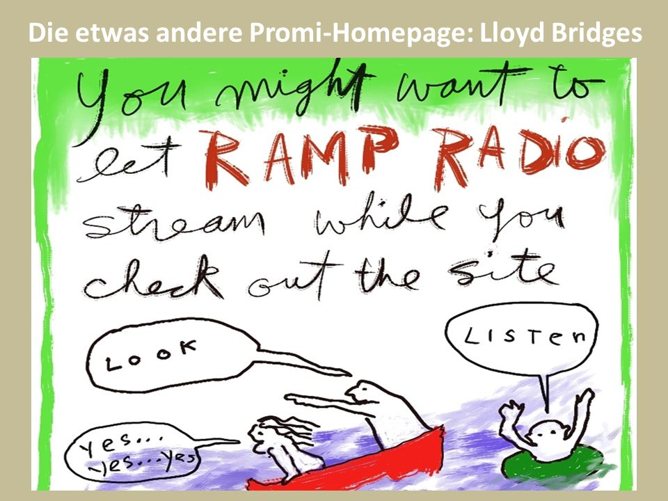 Die etwas andere Promi-Homepage: Lloyd Bridges
