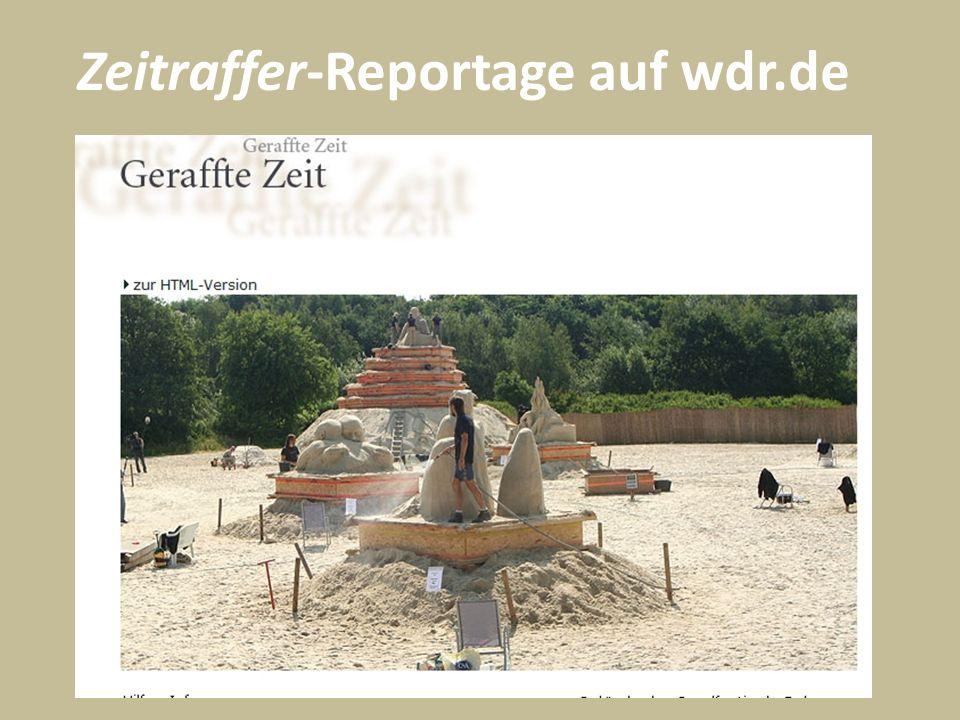 Zeitraffer-Reportage auf wdr.de