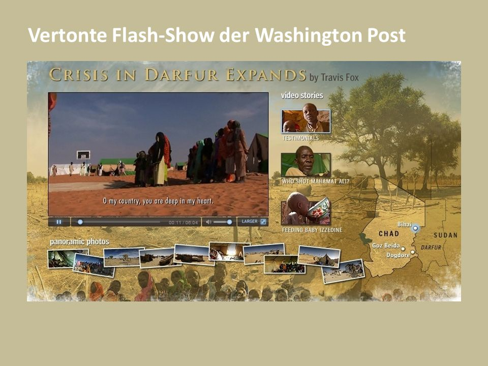 Vertonte Flash-Show der Washington Post