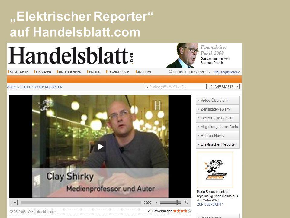 Elektrischer Reporter auf Handelsblatt.com