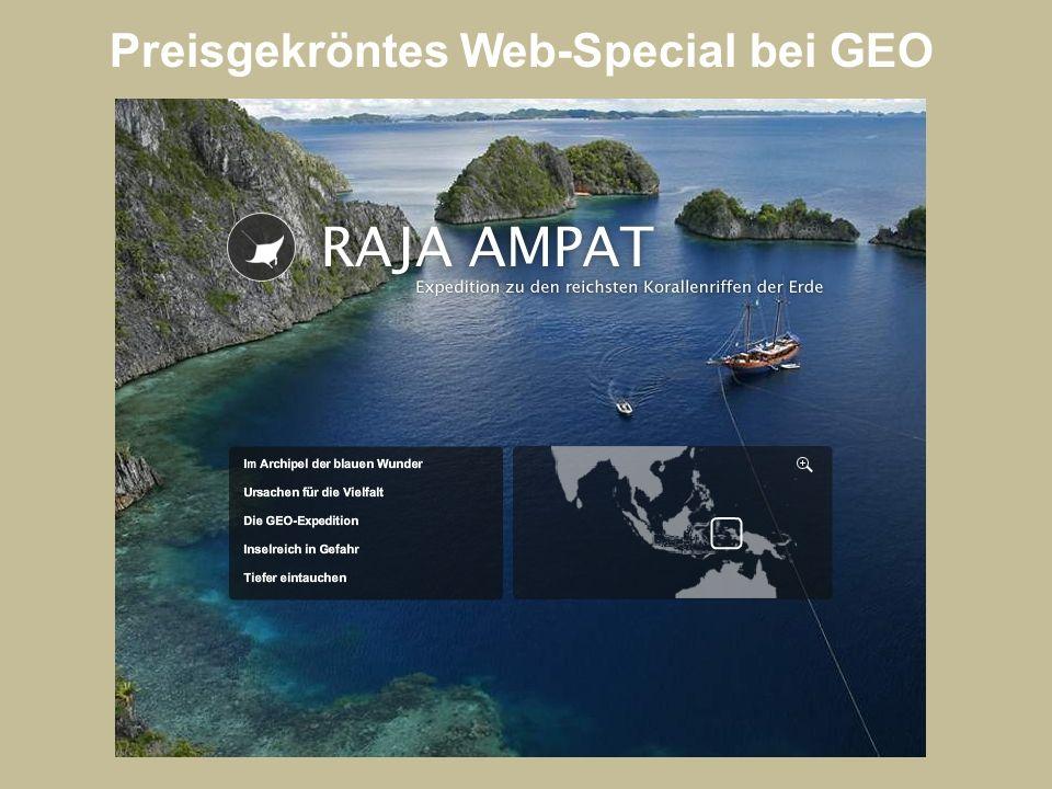 Preisgekröntes Web-Special bei GEO
