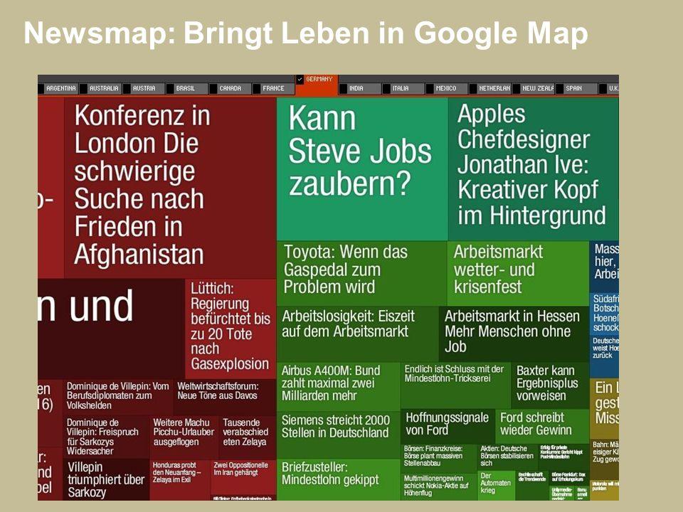 Newsmap: Bringt Leben in Google Map