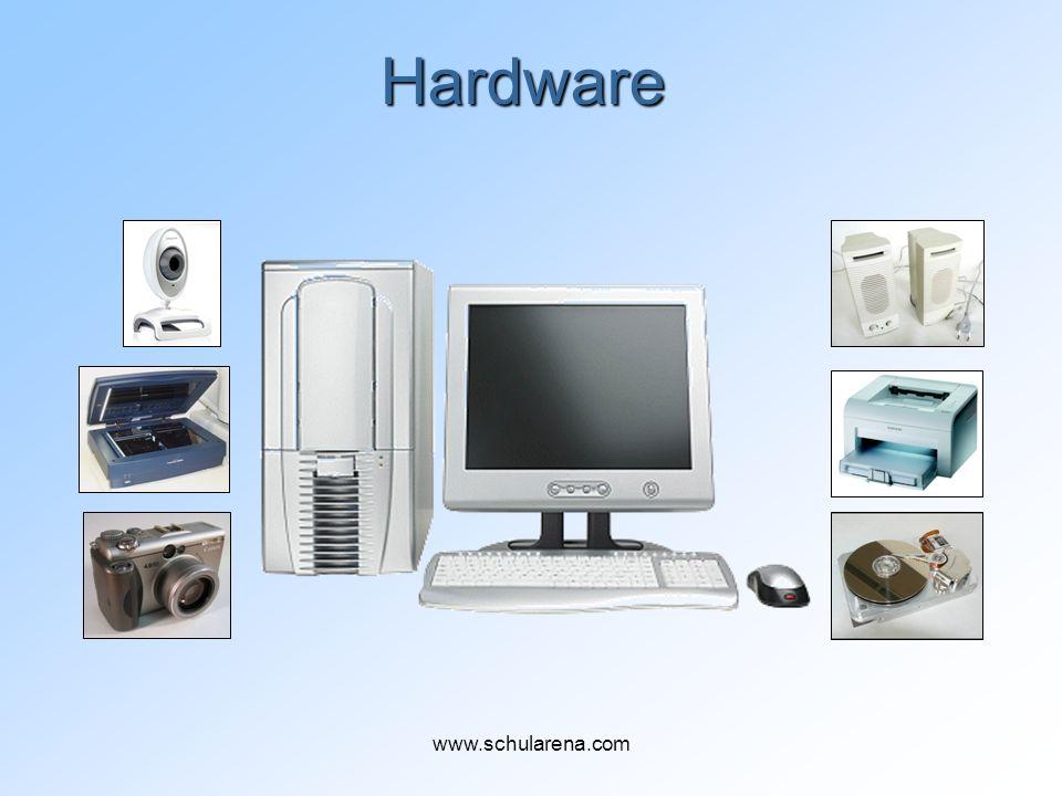 CD/DVD-Laufwerk (Brenner) CD und DVD sind optische Speichermedien CD-R: kann einmal beschrieben werden CD-RW kann oft beschrieben werden www.schularena.com