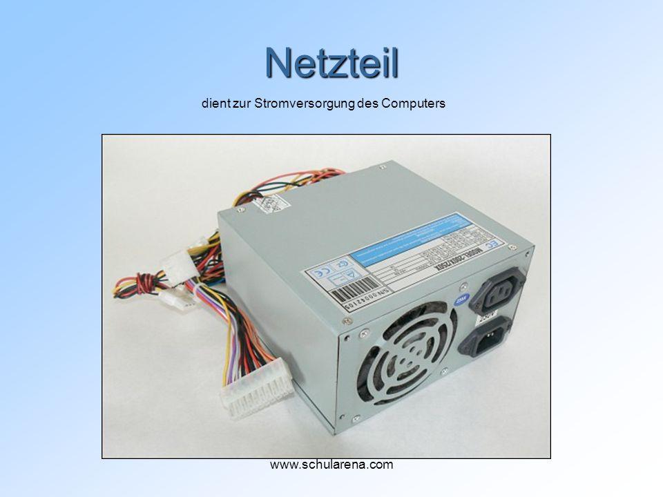 Netzteil dient zur Stromversorgung des Computers www.schularena.com