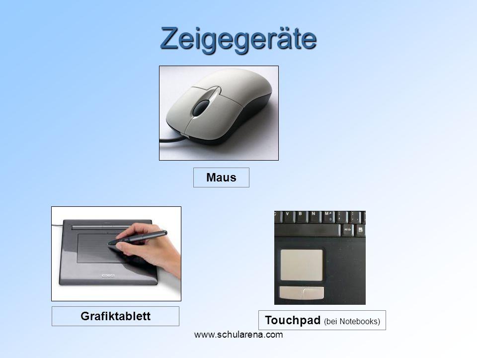 Zeigegeräte Maus Grafiktablett Touchpad (bei Notebooks) www.schularena.com