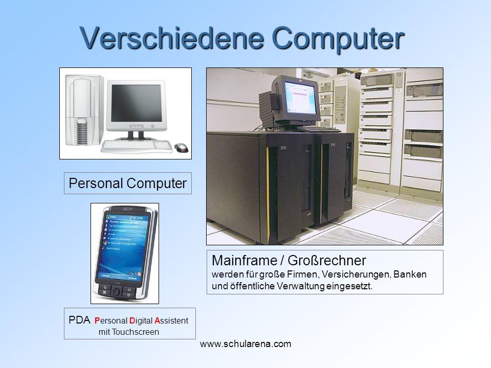 Verschiedene Computer Mainframe / Großrechner werden für große Firmen, Versicherungen, Banken und öffentliche Verwaltung eingesetzt. Personal Computer