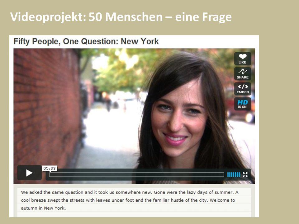 Videoprojekt: 50 Menschen – eine Frage