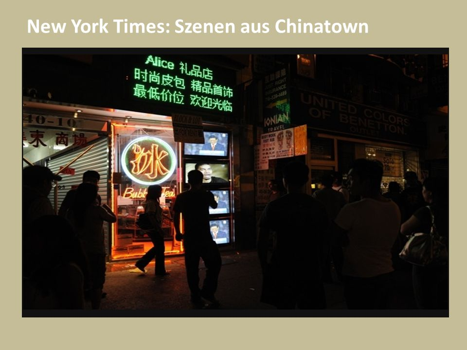 New York Times: Szenen aus Chinatown