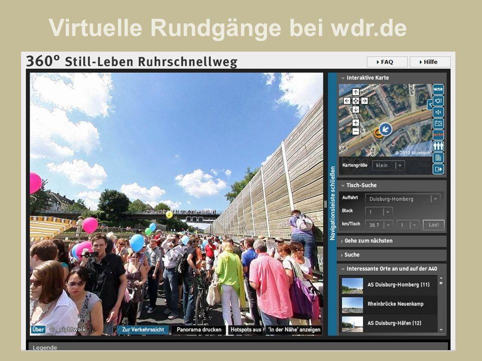 Virtuelle Rundgänge bei wdr.de