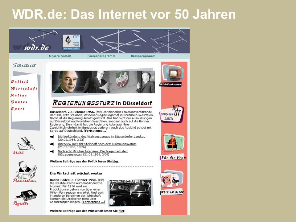 WDR.de: Das Internet vor 50 Jahren